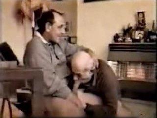 Mature fellow engulf older homo daddies weenie