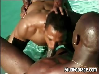 See studs fucking in the swimming pool