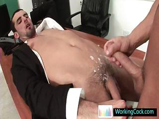 Jake getting his cute gazoo drilled hard by workingcock