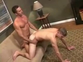 Daddy big dong barebacking his boy.