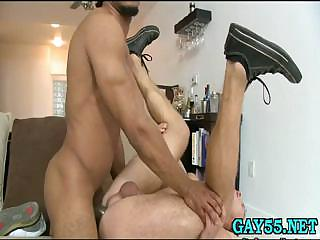 hot homo man likes swallowing