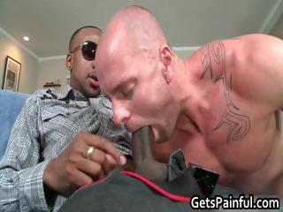 Pierced sack gets hard darksome