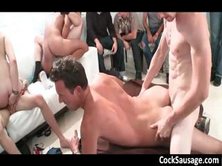 Biggest gay engulfing and fucking group-sex part1