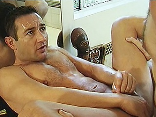 2 hard bodied homo bears Michael Vista and Lee Casey were hired to...