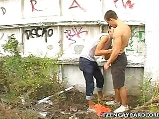 Twink Outdoor Oral-stimulation joy