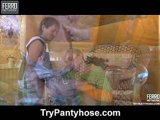 Paul&Maurice pantyhose homoerotic movie