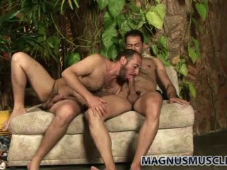 Beautifully filmed bear anal sex scene