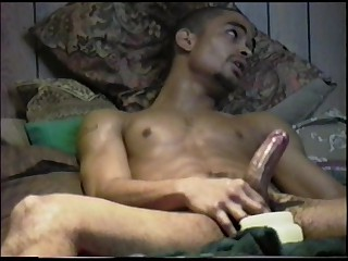 A big jar of petroleum jelly and a smutty porn flick is enough to acquire any fellow wanking their meat. Like this hawt ebony fellow for example. See him intently watching on this vid during the time that that fellow lathers his subrigid penis with this jelly. Witness him jack off that dick whil