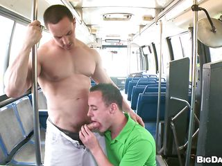 See Ryan Evans and Ty Tucker engulfing getting nasty in the bus in broad daylight. See 'em talking to each other and getting aroused by minutes. One of 'em entice the other one beautiful pretty soon and then that man pulls his panties down to let the other one suck is hard cock. Hope we'll watch the weenie sucker guy getting his a-hole screwed hard.