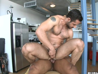 His beefy 10-Pounder penetrates that pure brawny dark gap like water!