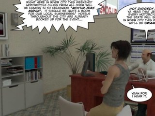 Fascinating of Homo Biker 3D Male Cartoon Manga Comics Story or Homo Manga Sadomasochism Outdoor