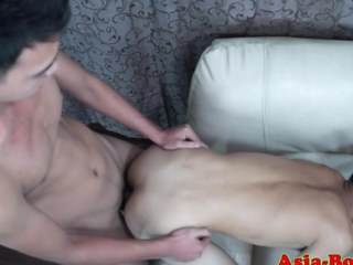 Gay Asian twink gets his ass slammed real hard