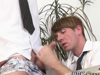 Raw drilled office homosexual arse