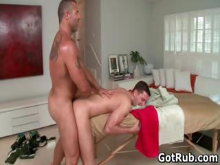 Sexy stud acquire his excellent body massaged part1