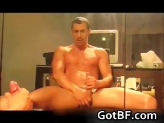 Slutty amateur men jerking off