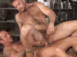 Bo Dean and Heath Jordan Warehouse Hirsute Males