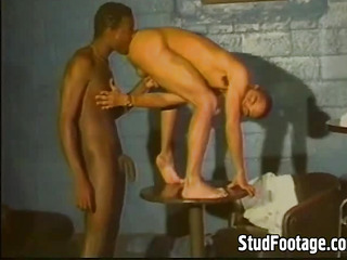 Sexy interracial gay sex action