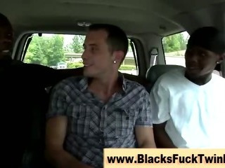 Interracial swarthy and ivory fuck session gets occuring