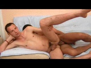 Facial closes out this homo anal movie