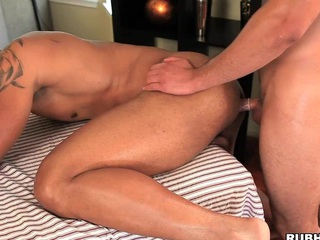 Hot looking boy-friend fucking his fresh friend in his good round wazoo