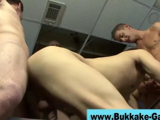 Dilettante gets drilled hard in a group fuck HD